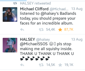 badlands, halsey, and michael clifford image