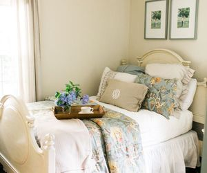 bedroom, chic, and home image