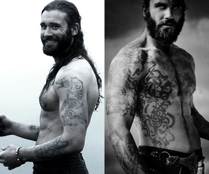 beard, viking, and clive standen image