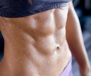 athletic, fitness, and sixpack image