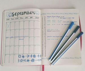 college, organization, and planner image
