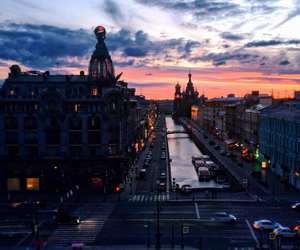 city, sky, and russia image