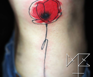 belly, flower, and poppy image