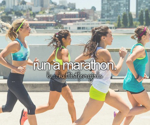 Marathon, run, and bucket list image