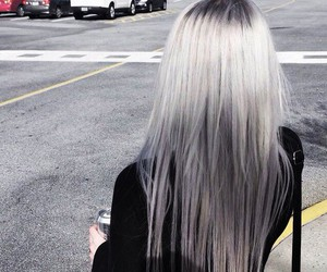 hair, grunge, and grey image