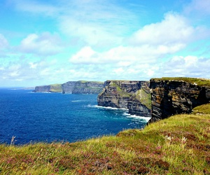 beautiful, cliffs of moher, and clouds image