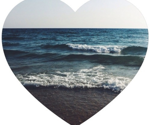 sea, heart, and summer image