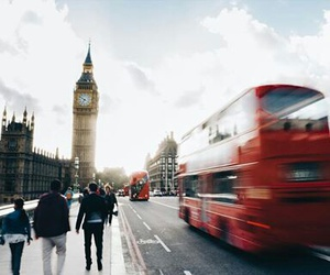 Big Ben, bus, and london image