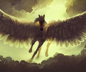 fantasy, horse, and wings image