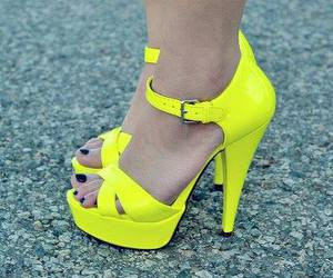 shoes, yellow, and neon image