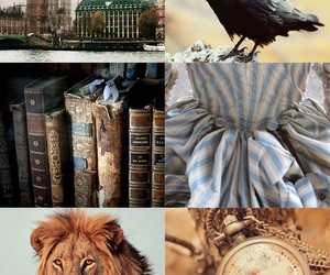 blue, books, and clock image