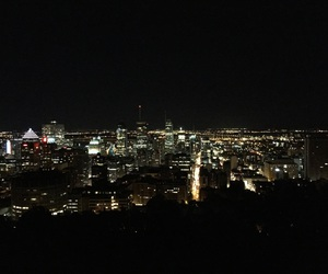 canada, city, and citylights image