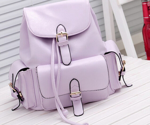 bag, fashion, and purple image
