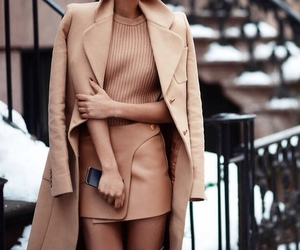 beige, girl, and style image
