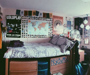 bedroom, college, and inspiration image