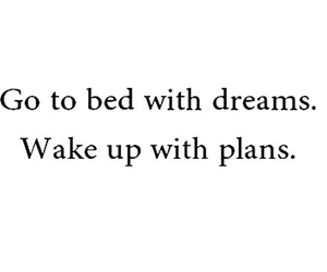 Dream, plan, and bed image