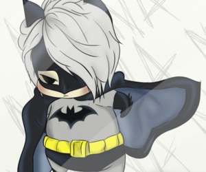 batman, chibi, and fanart image
