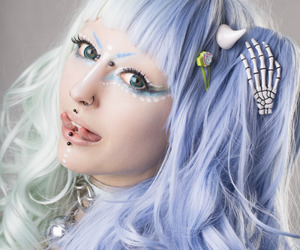 body modification, tongue split, and cute image