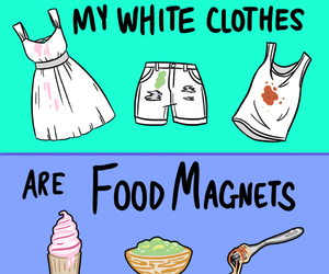clothes, food, and funny image