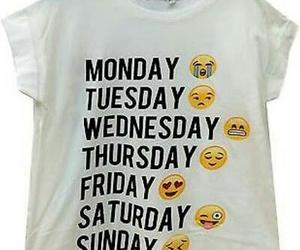 days, shirt, and week image