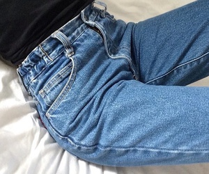 jeans, fashion, and grunge image