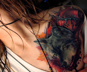 tattoo, wolf, and inspires image