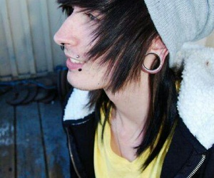 emo, Piercings, and sceneboy image