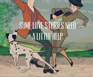 love, disney, and 101 dalmatians image