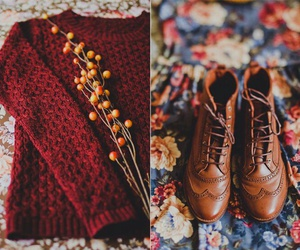 autumn, shoes, and red image