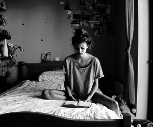 black and white, girl, and memories image