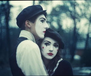 love, couple, and mime image
