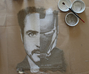 iron man, art, and robert downey jr image