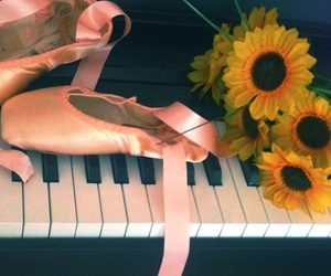 ballet, flowers, and piano image