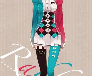 anime, anime girl, and rabbit image