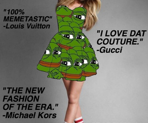 dress, frog, and meme image