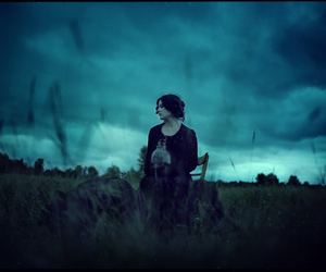 alone, girl, and magic image