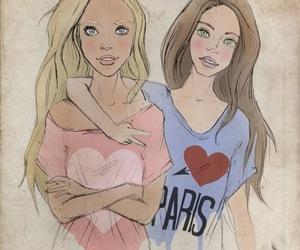 friends and paris image
