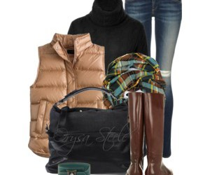 boots, jeans, and plaid image