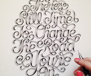 beauty, graphic design, and lettering image