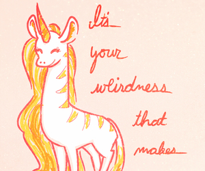 quote, lovely, and unicorn image
