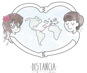 distance, amor a distancia, and love image