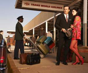 airport, don draper, and mad men image
