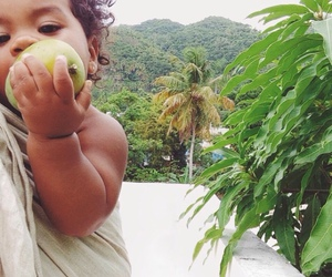 baby, fruit, and cute image