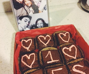 boyfriend, brownies, and couple image