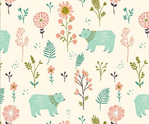 wallpaper, background, and bear image
