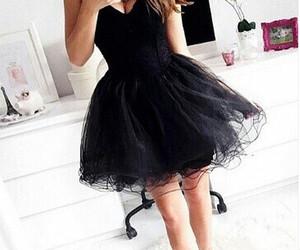 negro and vestido image