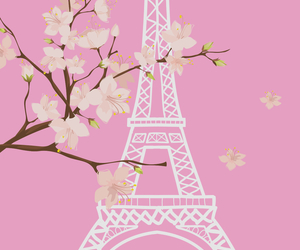 cherryblossom, paris, and pink image