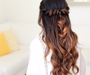 beauty, brown hair, and ombre hair image