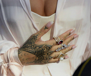 rihanna, tattoo, and jewelry image