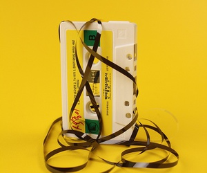 yellow, aesthetic, and tape image